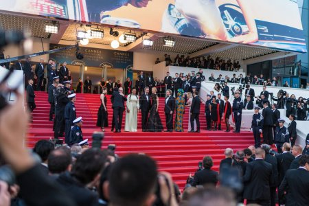 CANNES, FRANCE - MAY 09, 2018: Jury members attending screening 'Everybody Knows (Todos Lo Saben)' during the 71st annual Cannes Film Festival