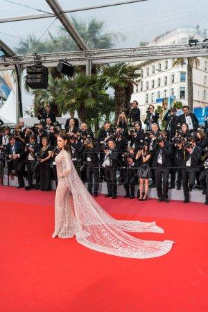 Photo pour CANNES, FRANCE - 10 MAI 2018 : Araya Hargate assiste à la projection de 'Sorry Angel (Plaire, Aimer Et Courir Vite)' lors de la 71e édition annuelle du Festival de Cannes - image libre de droit
