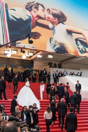 Photo pour CANNES, FRANCE - 10 MAI 2018 : Invité à la projection de 'Sorry Angel (Plaire, Aimer Et Courir Vite)' lors de la 71e édition annuelle du Festival de Cannes - image libre de droit