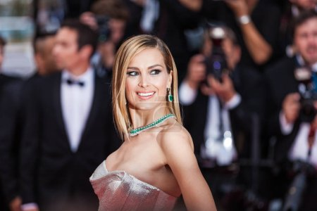 Photo for CANNES, FRANCE - MAY 10, 2018: Petra Nemcova attending screening of 'Sorry Angel (Plaire, Aimer Et Courir Vite)' during the 71st annual Cannes Film Festival - Royalty Free Image