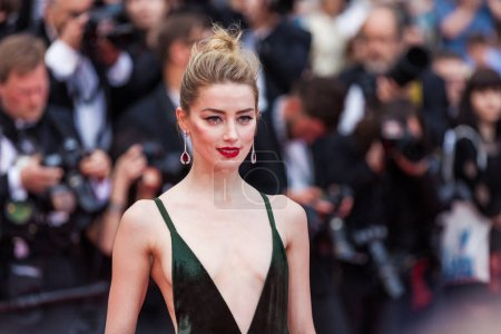 CANNES, FRANCE - MAY 10, 2018: Amber Heard attending screening of 'Sorry Angel (Plaire, Aimer Et Courir Vite)' during the 71st annual Cannes Film Festival