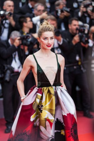 CANNES, FRANCE - MAY 10, 2018: Amber Heard attends the screening of 'Sorry Angel (Plaire, Aimer Et Courir Vite)' during the 71st annual Cannes Film Festival