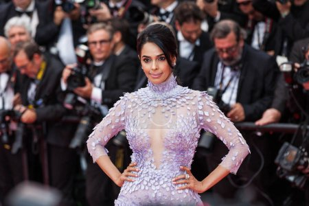 Photo for CANNES, FRANCE - MAY 10, 2018: Mallika Sherawat, back detail, attends the screening of 'Sorry Angel (Plaire, Aimer Et Courir Vite)' during the 71st annual Cannes Film Festival - Royalty Free Image