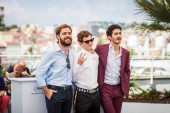 CANNES, FRANCE - MAY 11, 2018: Peter Lanzani, Lorenzo Ferro and Chino Darin attend the photocall for 'El Angel' during the 71st annual Cannes Film Festival
