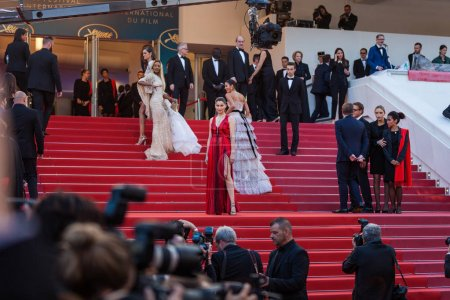 Photo for CANNES, FRANCE - MAY 13, 2018: Laetitia Casta attending screening of 'Sink Or Swim (Le Grand Bain)' during the 71st annual Cannes Film Festival - Royalty Free Image
