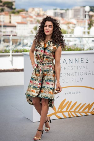 CANNES, FRANCE - MAY 15, 2018: Director Sabrina Ouazani attends the photocall for Talents Adami 2018 during the 71st annual Cannes Film Festival