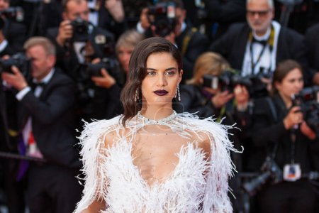 Photo for CANNES, FRANCE - MAY 15, 2018: Sara Sampaio attends the screening of 'Solo: A Star Wars Story' during the 71st annual Cannes Film Festival at Palais des Festivals - Royalty Free Image
