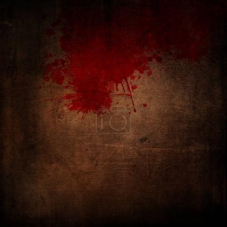 Grunge-Hintergrund mit Blutspritzern