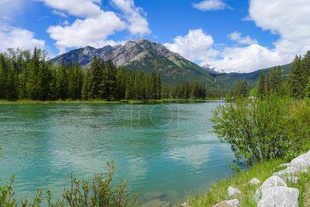 Photo pour Boucle Minnewanka et lac Johnson près de Banff dans les Rocheuses canadiennes - image libre de droit