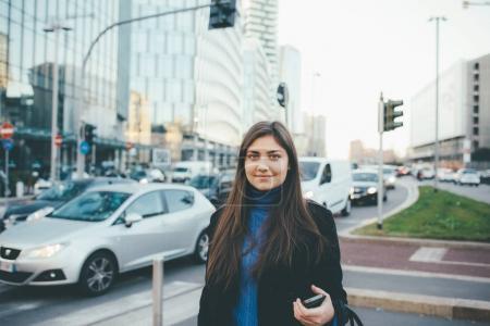 woman outdoor walking in city