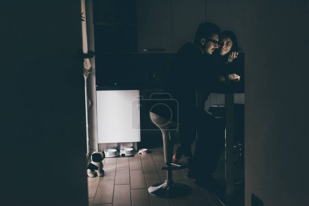 woman and man indoor in apartment