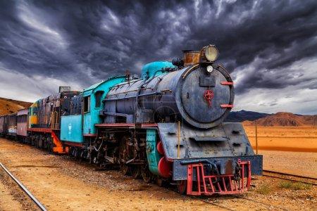 Locomotive train in Wadi Rum desert, Jordan