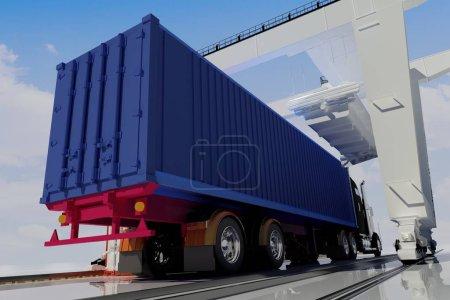 Freight cars,3d render