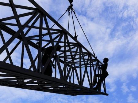 Photo pour Constructeurs sur le chantier . - image libre de droit