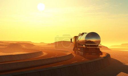 Photo for Truck drivenin the desert. - Royalty Free Image