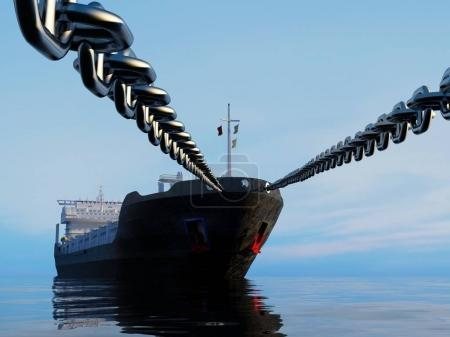 Photo for The tanker is on a chain.. - Royalty Free Image