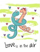 Saint Valentines Day card vector illustration