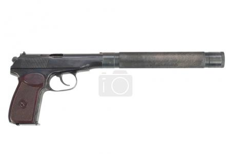USSR Makarov pistol with silencer isolated