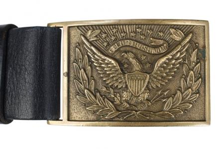 US Army Belt Buckle Civil War period isolated on white