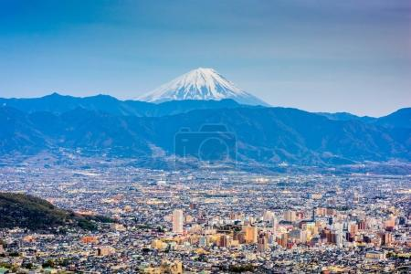 Kofu, Japan with Mt. Fuji