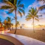 Fort Lauderdale Beach, Florida, USA at dawn....