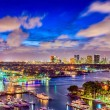 Fort Lauderdale, Florida, USA cityscape at twiligh...