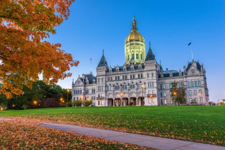 Photo for Connecticut State Capitol in Hartford, Connecticut, USA during autumn. - Royalty Free Image