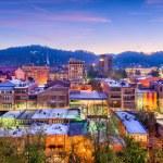Asheville, North Carolina, USA downtown skyline....