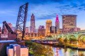 "Постер, картина, фотообои ""Skyline Кливленд, Огайо, США"""