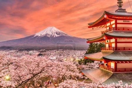 Fujiyoshida, Japan Spring Landscape