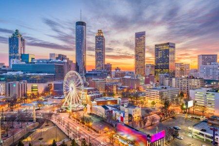 Photo pour Skyline du centre-ville de Atlanta, Georgia, Usa. - image libre de droit