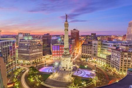 Indianapolis, Indiana, USA Skyline