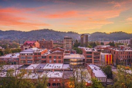 Asheville, North Caroilna, USA downtown skyline at...