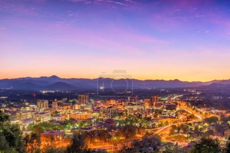 Asheville, North Carolina, USA skyline over downto...