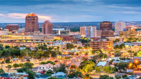 Photo for Albuquerque, New Mexico, USA downtown cityscape at twilight. - Royalty Free Image