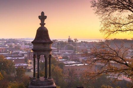Photo for Rome, Georgia, USA downtown historic cityscape at twilight. - Royalty Free Image
