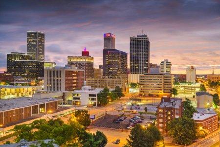 Photo for Tulsa, Oklahoma, USA skyline at twilight. - Royalty Free Image