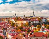 Aerial panorama of Old town, Tallinn, Estonia
