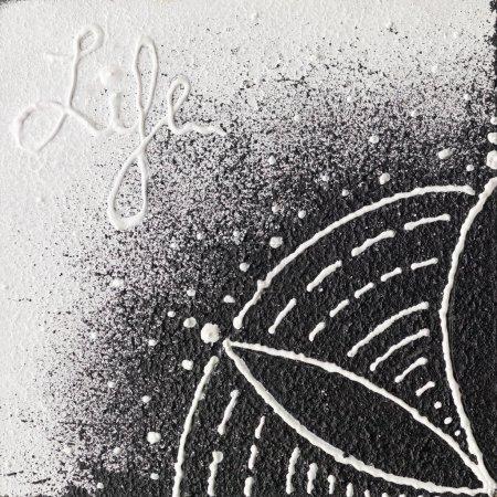 Monochrome seed of life symbol