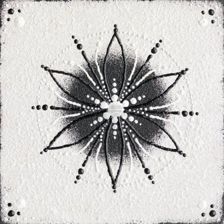 Monochrome seed of life symbol