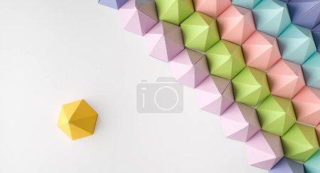 Photo pour Fond de papier abstraite de pyramide. Copiez l'espace disponible. Utile pour les cartes de visite et le web - image libre de droit