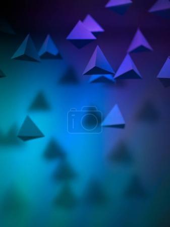 Photo pour Fond abstrait pyramide de papier dans l'espace. Espace de copie disponible. Utile pour les cartes de visite et le web - image libre de droit