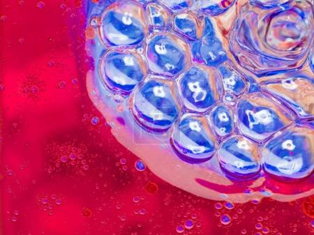 blue and red bubbles