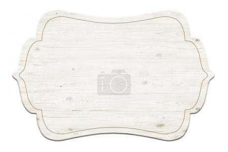 Photo for Wooden label isolated over white background - Royalty Free Image