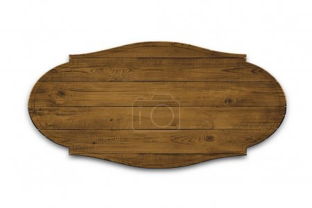 Photo for Wooden sign isolated over white background - Royalty Free Image