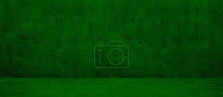 Photo pour Fond de texture de mur vert foncé large béton blanc - image libre de droit