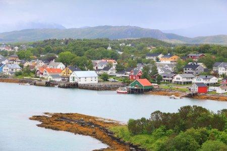 Photo pour Bronnoysund, Norvège. Vue de la ville dans le comté de Nordland. - image libre de droit