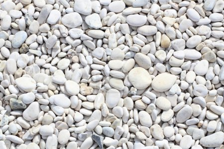 Photo pour Plage de Pierre blanc zen dans l'île de Corfou, Grèce. - image libre de droit