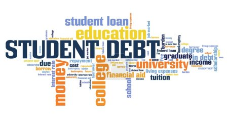 Student debt - word cloud illustration