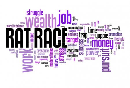 Rat race - word cloud
